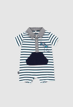 Babygrow malha combinado para o bebé menino_1