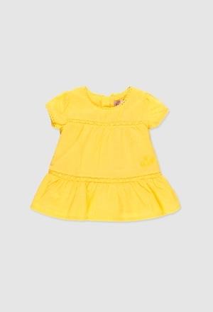 Voile dress plumeti for baby girl_1