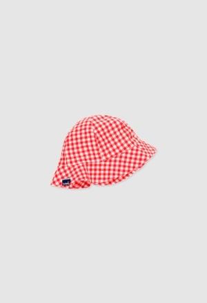 Poplin hat for baby girl_1