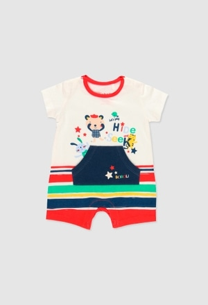 Babygrow malha para o bebé menino_1