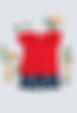 Camiseta malha flame para o bebé menina