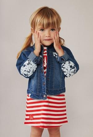 Denim jacket stretch for baby girl_1