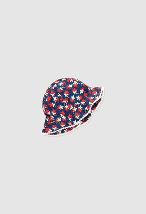 Viscose hat for baby girl_1