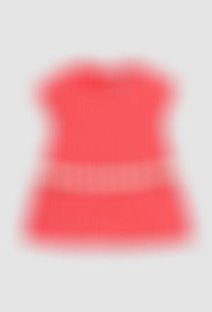Vestido malha elástico para o bebé menina