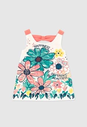 Vestido malha elástico para o bebé menina_1