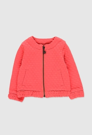 Knit jacket jacquard for baby girl_1