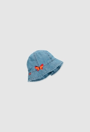 Denim hat for baby girl_1