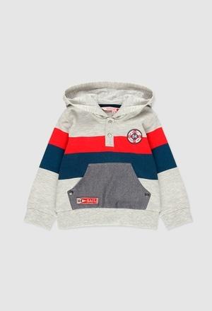 Sweatshirt felpa com bolso para o bebé menino_1