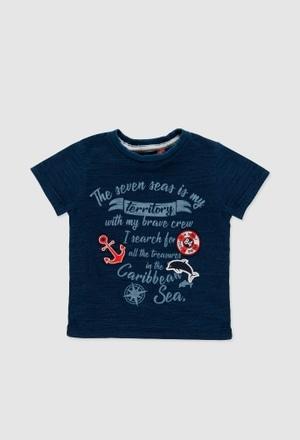 Camiseta malha flame para o bebé menino_1