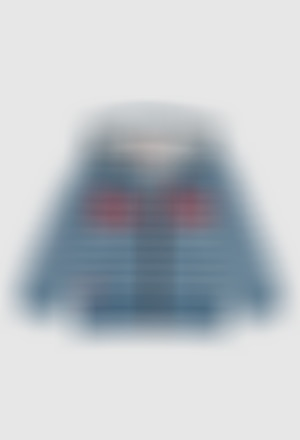 Fleece jacket denim for baby boy