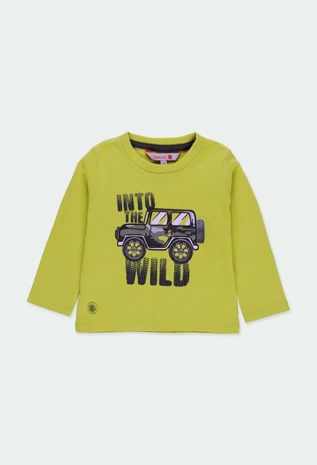 """Knit t-Shirt """"safari"""" for baby boy_1"""