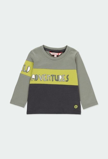 "Knit t-Shirt ""adventure"" for baby boy_1"