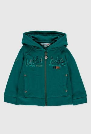 Fleece jacket flame for baby boy_1