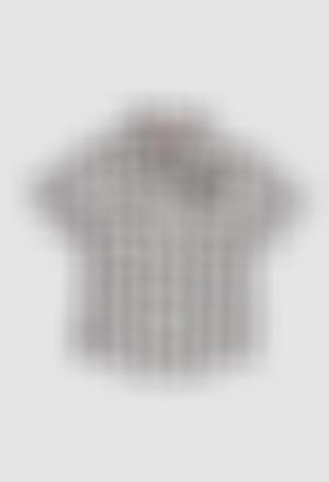 Camisa poplin quadros para o bebé menino