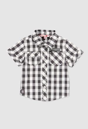 Camisa poplin quadros para o bebé menino_1