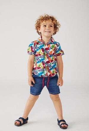 Poplin shirt for baby boy_1