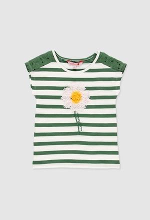 Camiseta malha elástica para menina_1
