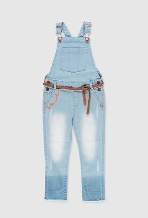 Denim jumpsuit for girl_1