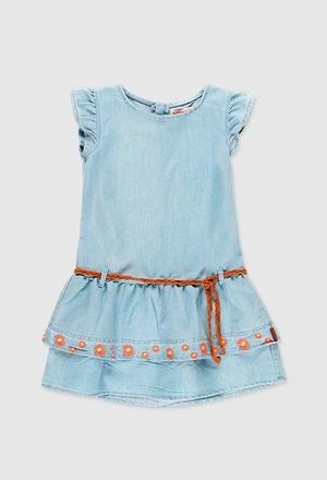 Vestido denim para menina_1