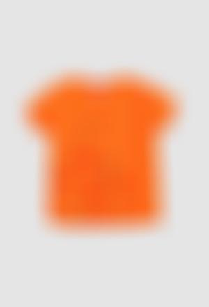 Camiseta malha flame para menina
