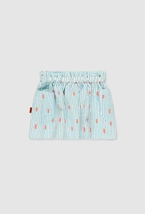 Poplin skirt for girl_1