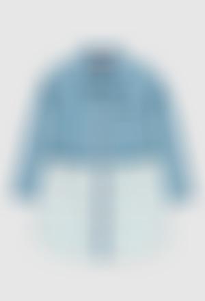 Denim dress combined for girl