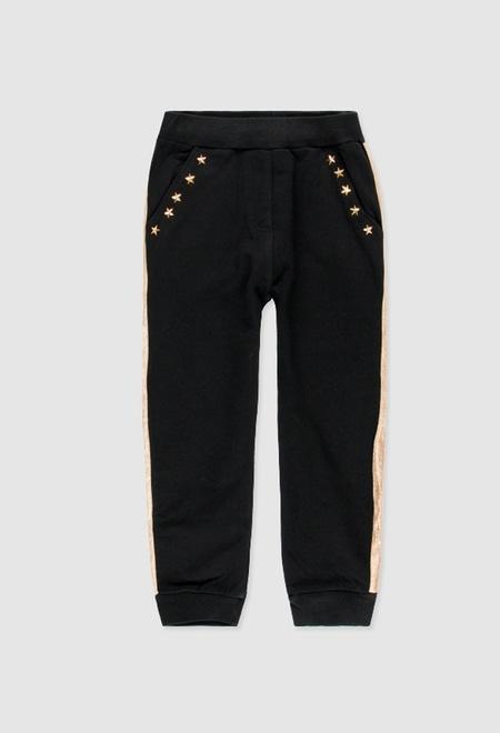 Fleece trousers fake fur for girl_1