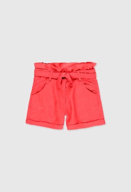 Twill bermuda shorts for girl_1