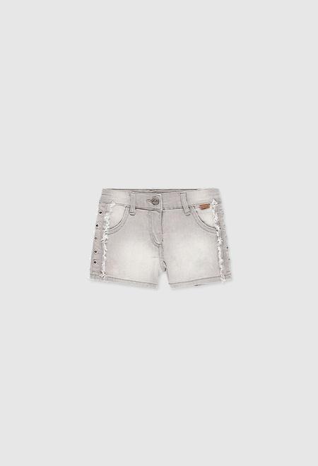 Stretch denim shorts for girl_1