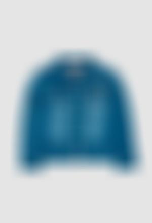Fleece jacket denim for girl