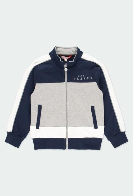 Fleece jacket with stripes for boy_1