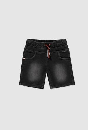 Knit denim bermuda shorts stretch for boy_1