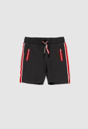 Fleece bermuda shorts for boy_1