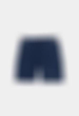 Stretch gabardine bermuda shorts for boy