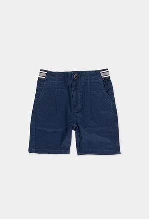 Stretch gabardine bermuda shorts for boy_1