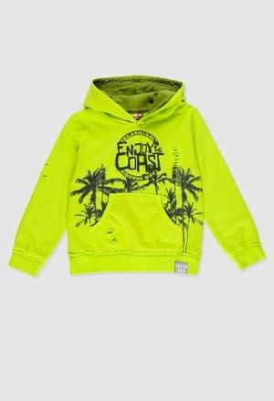 Sweatshirt felpa com capuz para menina_1