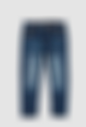 Calças denim elástica para menino