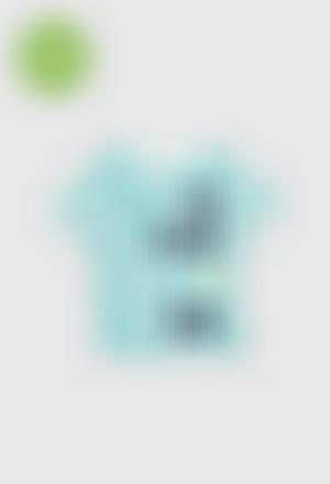 Camiseta malha flame para menino