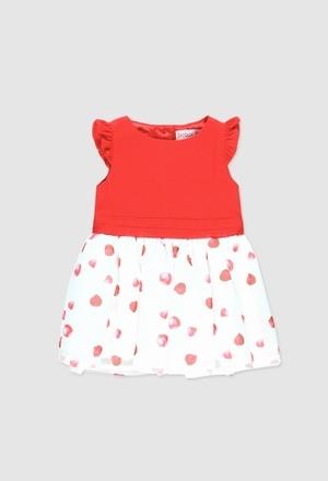 Vestido combinado para o bebé menina_1