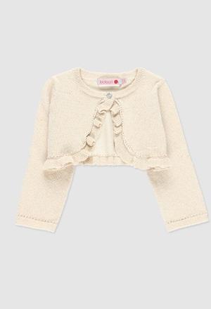 Bolero tricot para o bebé menina_1