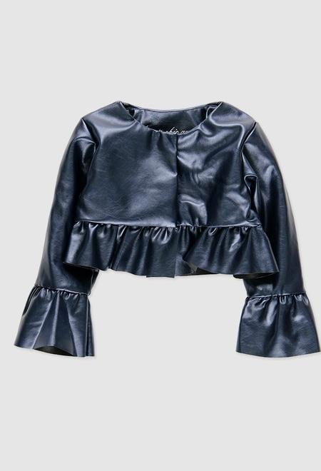 Jacket fake fur for baby girl_1