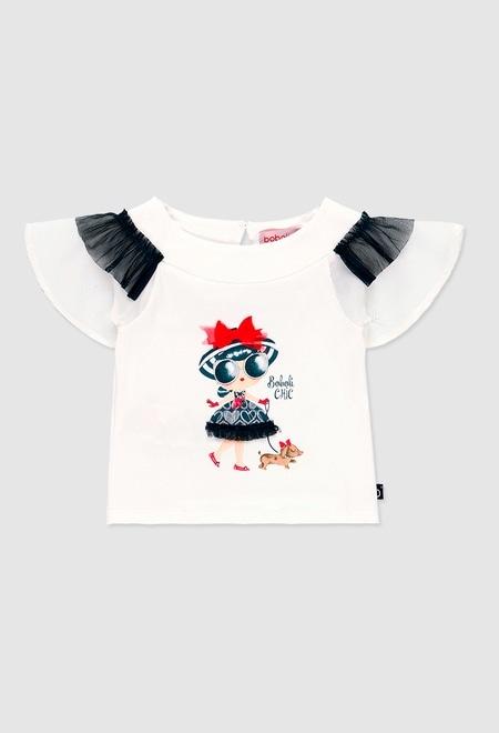Camiseta combinada para o bebé menina_1