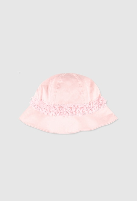 Saten hat for baby girl_1