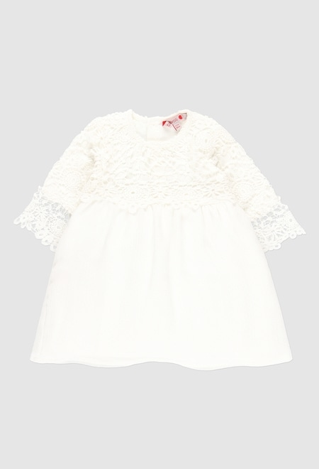 Guipure dress combined for baby girl_1