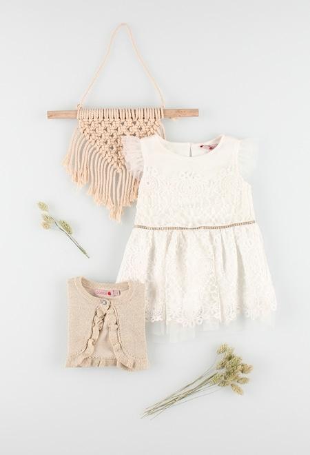Guipure dress for baby girl_1