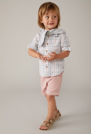 Linen shirt long sleeves for baby boy_1
