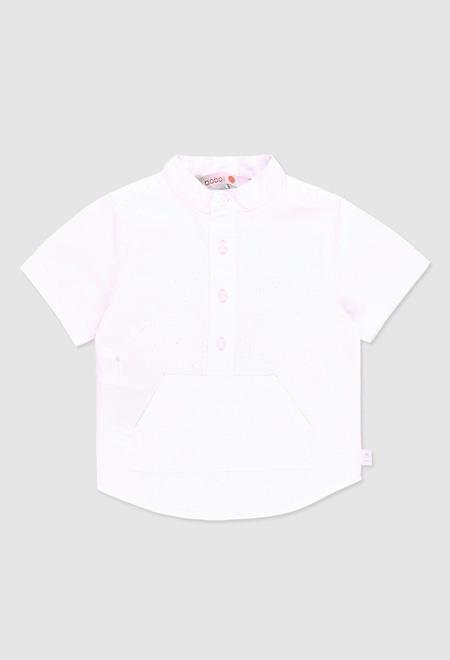Linen shirt short sleeves for baby boy_1
