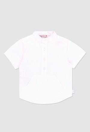 Camisa linho manga curta para o bebé menino_1