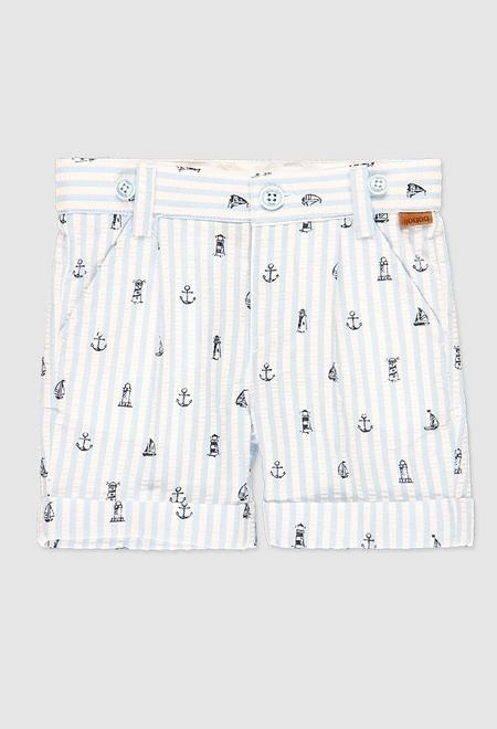 Poplin bermuda shorts for baby boy_1
