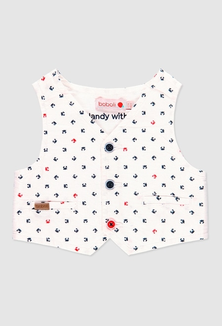 Vest oxford for baby boy_1